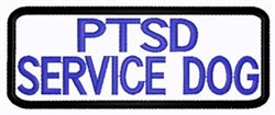 PTSD Service Dog Patch embroidery design