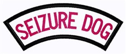 Seizure Dog Patch embroidery design