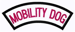 Mobility Dog Patch embroidery design