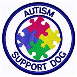 Autism Support Patch embroidery design