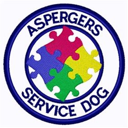 Aspergers Patch embroidery design