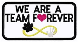 Team Forever Patch embroidery design