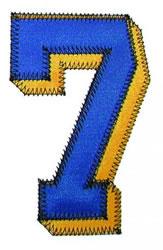 7 Zig-Zag embroidery design