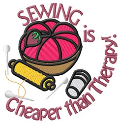 Cheaper Than Therapy embroidery design