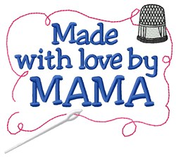 Made By Mama embroidery design
