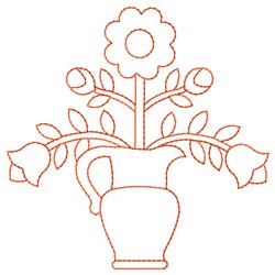 Flower Vase embroidery design