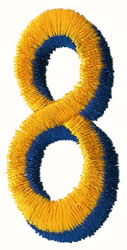 Two Color 8 embroidery design