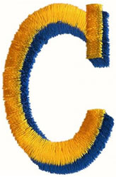 Two Color C embroidery design