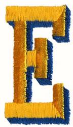 Two Color E embroidery design