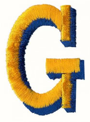 Two Color G embroidery design