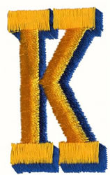 Two Color K embroidery design