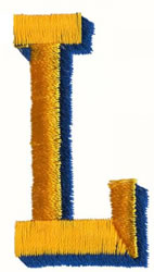 Two Color L embroidery design