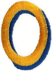 Two Color O embroidery design