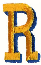 Two Color R embroidery design
