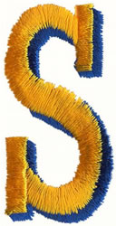 Two Color S embroidery design