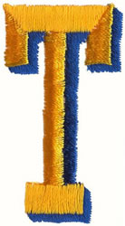 Two Color T embroidery design
