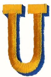 Two Color U embroidery design