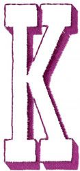 Shadow K embroidery design