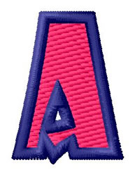 Show Card Letter A embroidery design