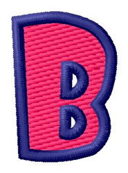 Show Card Letter B embroidery design