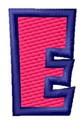 Show Card Letter E embroidery design