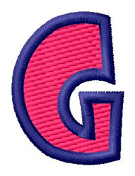 Show Card Letter G embroidery design