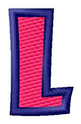 Show Card Letter L embroidery design