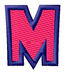 Show Card Letter M embroidery design