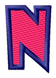 Show Card Letter N embroidery design