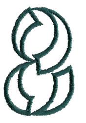 Siamese 8 embroidery design