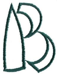 Siamese B embroidery design