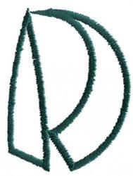 Siamese D embroidery design