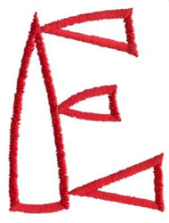 Siamese E embroidery design