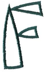 Siamese F embroidery design