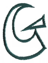 Siamese G embroidery design