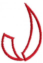 Siamese J embroidery design