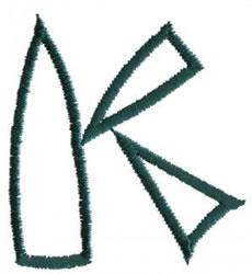 Siamese K embroidery design