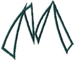Siamese M embroidery design