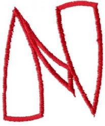 Siamese N embroidery design