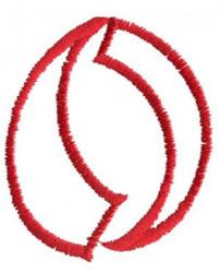 Siamese O embroidery design