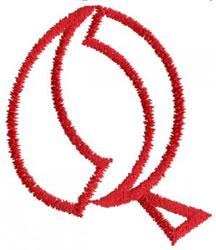 Siamese Q embroidery design