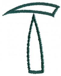 Siamese T embroidery design