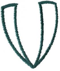 Siamese V embroidery design