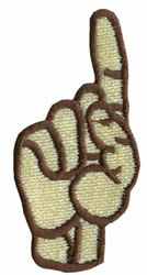 Sign Language 1 embroidery design