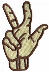 Sign Language 3 embroidery design
