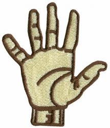 Sign Language 5 embroidery design