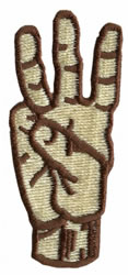 Sign Language 6 embroidery design