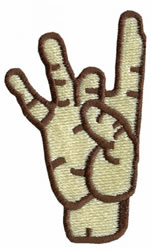 Sign Language 8 embroidery design