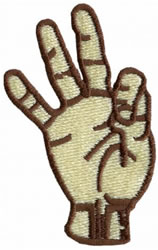 Sign Language 9 embroidery design