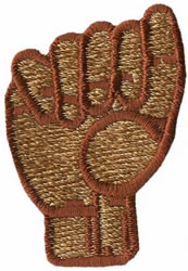 Sign Language A embroidery design